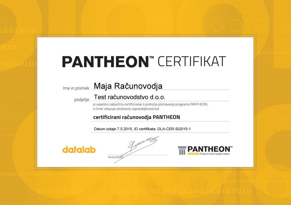 PANTHEON certificirani računovođa