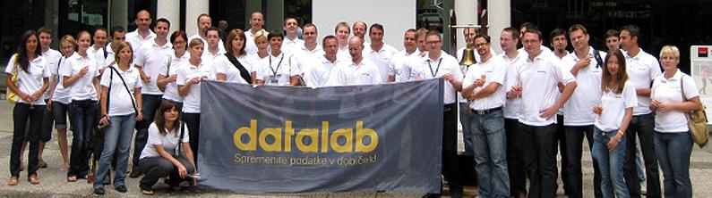 Ekipi i Datalab para bursës së Lubjanës